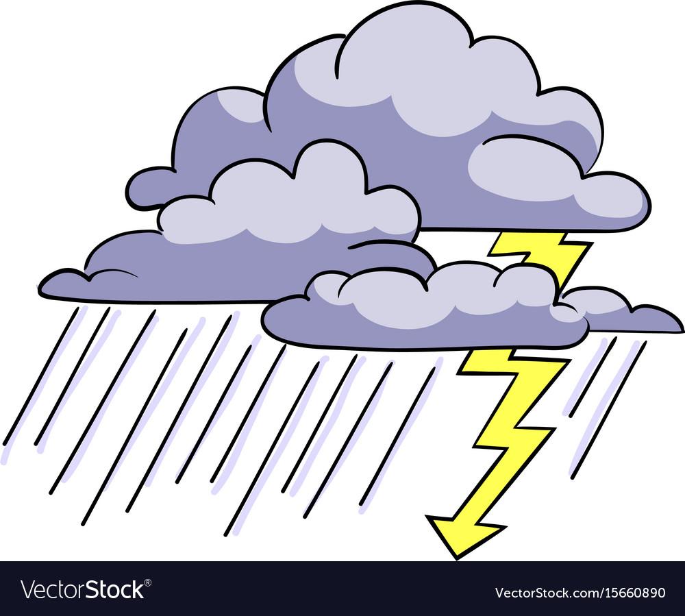 Cartoon Storm Cloud. Stock Vector 64794529 : Shutterstock   Cartoon Storm