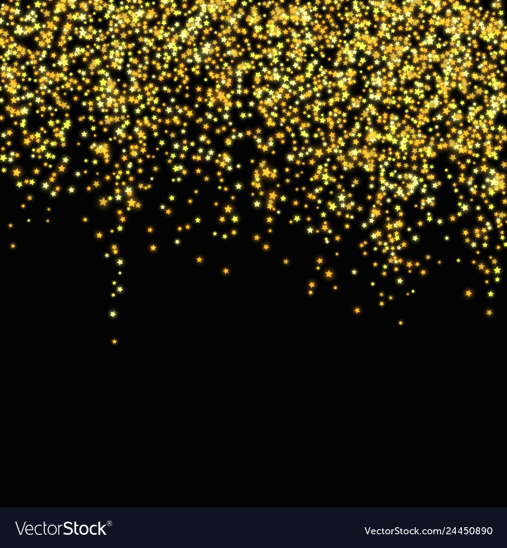Gold glitter falling stars abstract