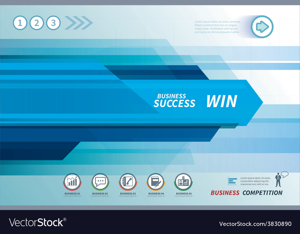 Line speed business background vector image