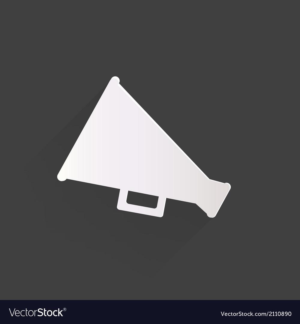 Megaphone oudspeaker icon loud-hailer symbol