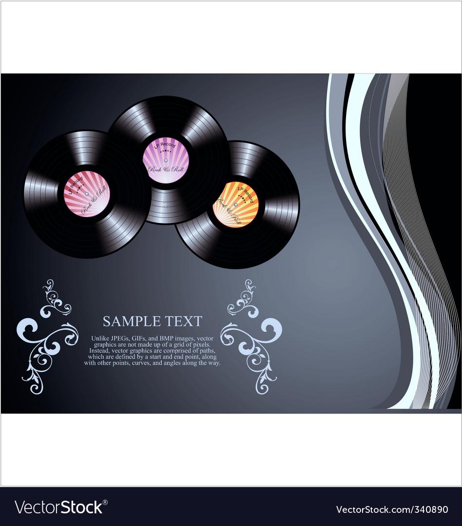 Retro vinyl background vector image