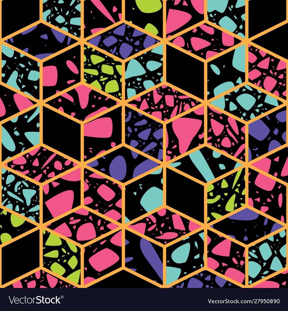 Terrazzo seamless pattern design