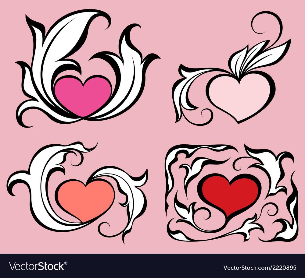 Abstract hearts