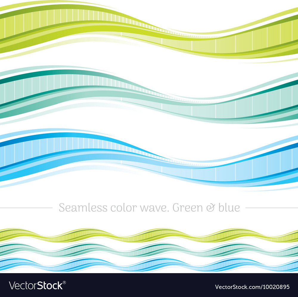 Abstract seamless wave pattern on white background vector image