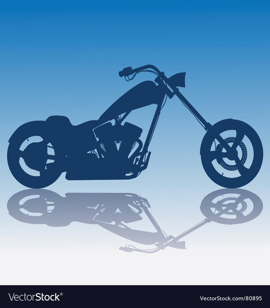 Custom blue chopper Royalty Free Vector Image - VectorStock
