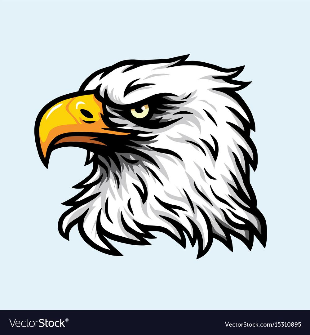 Eagle head mascot logo