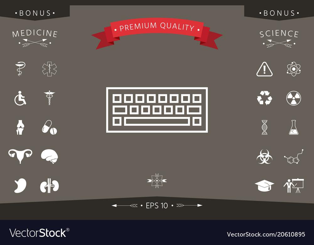 Keyboard Icon Symbol Royalty Free Vector Image