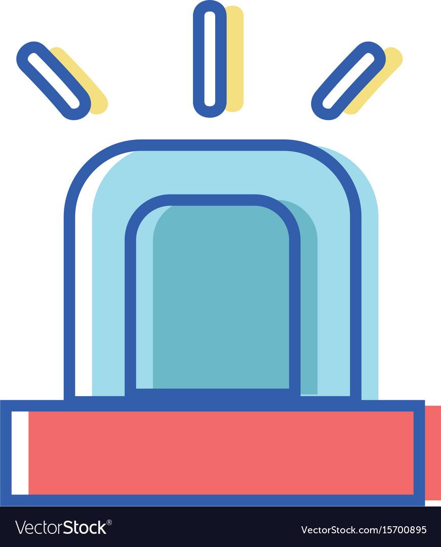 Light siren to emergency danger security vector image