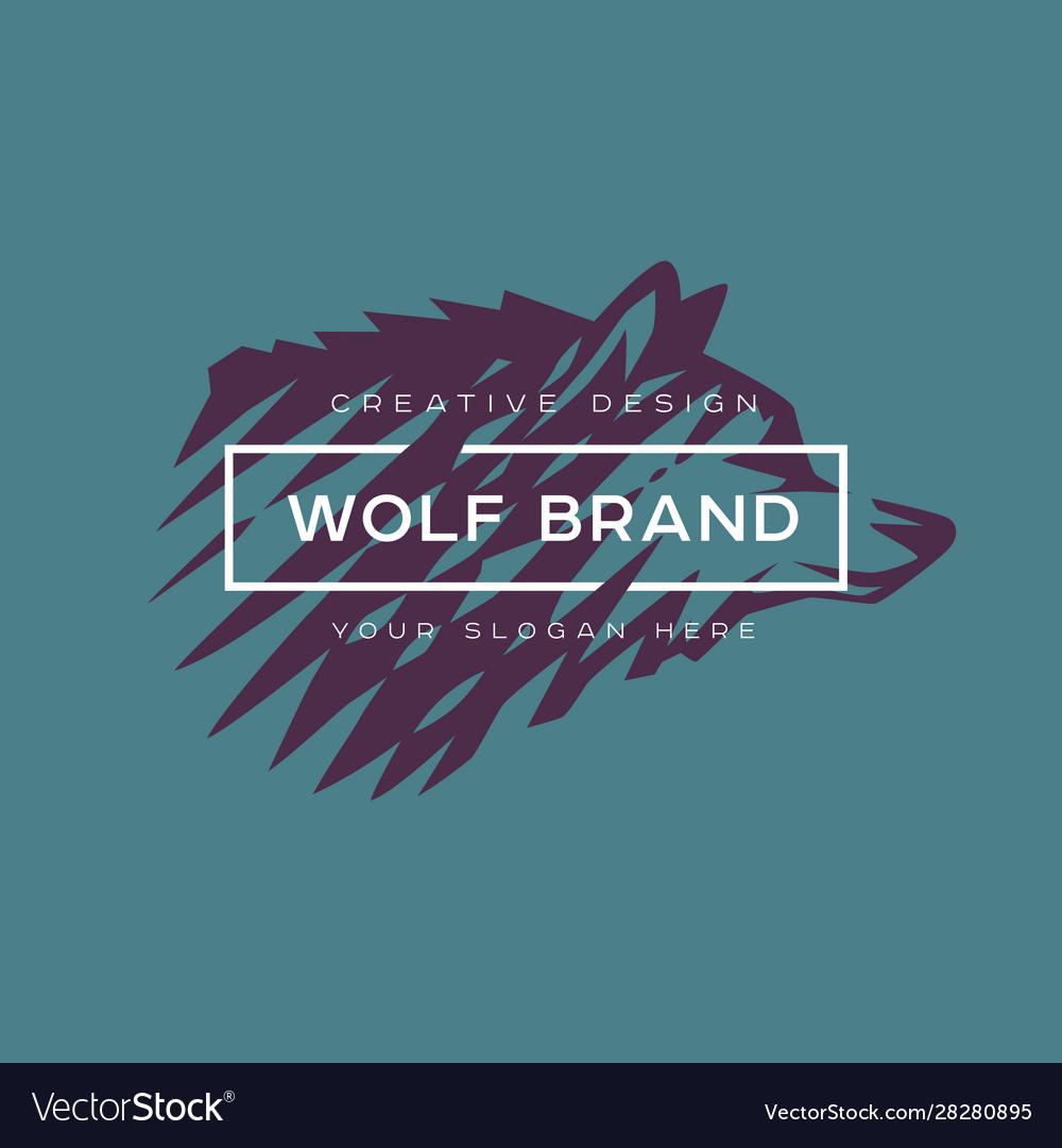 Logotype wolf