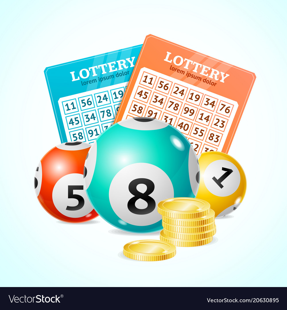 Realistic detailed 3d lotto concept card