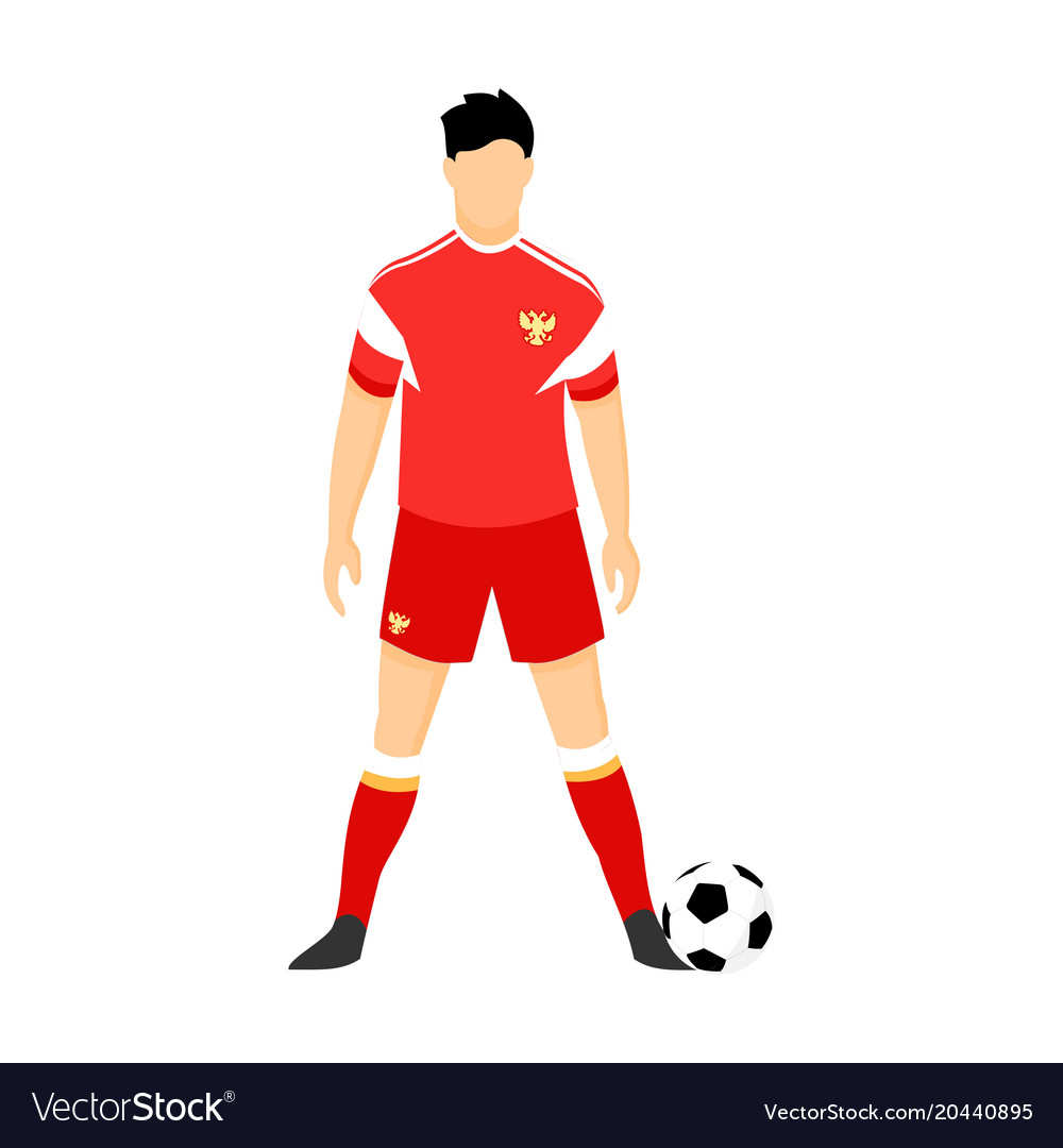 c12c44064bc Russia football uniform national team Royalty Free Vector
