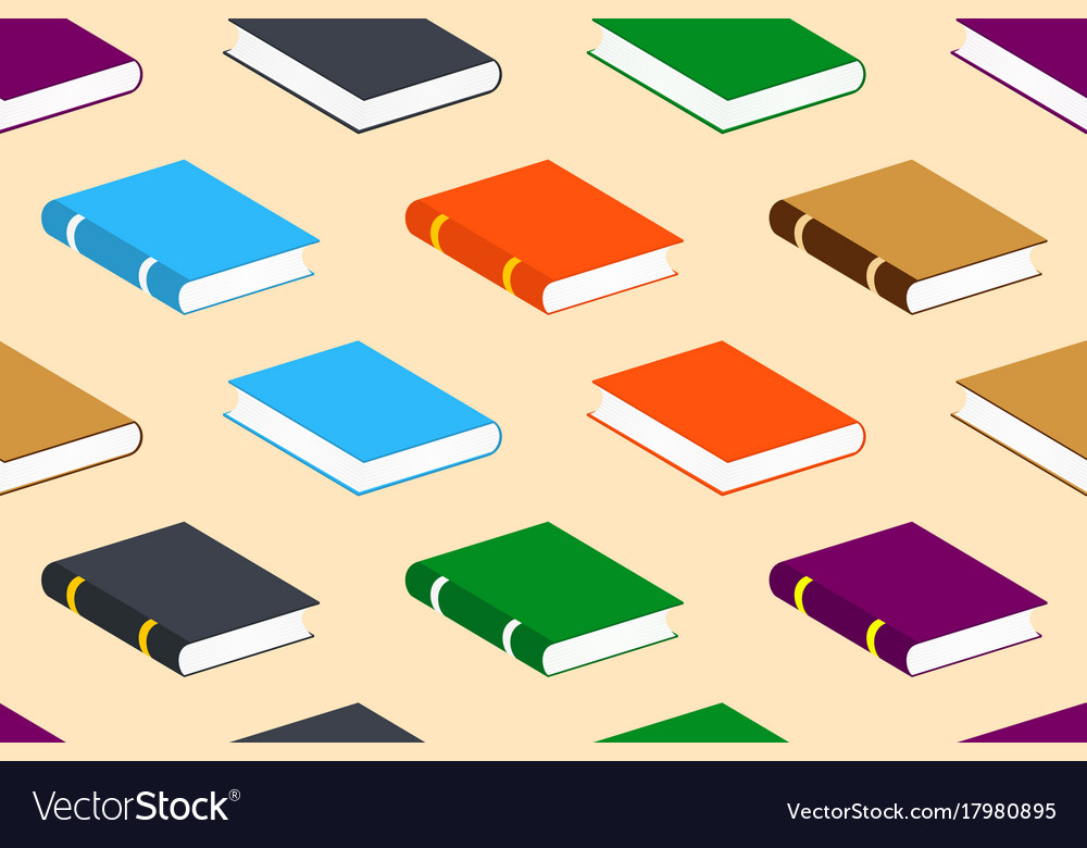 Seamless pattern with closed colorful books vector image
