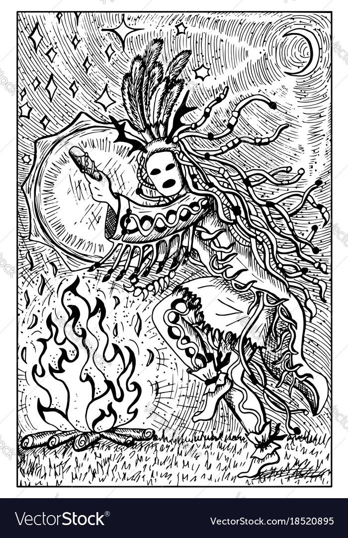 Shaman engraved fantasy