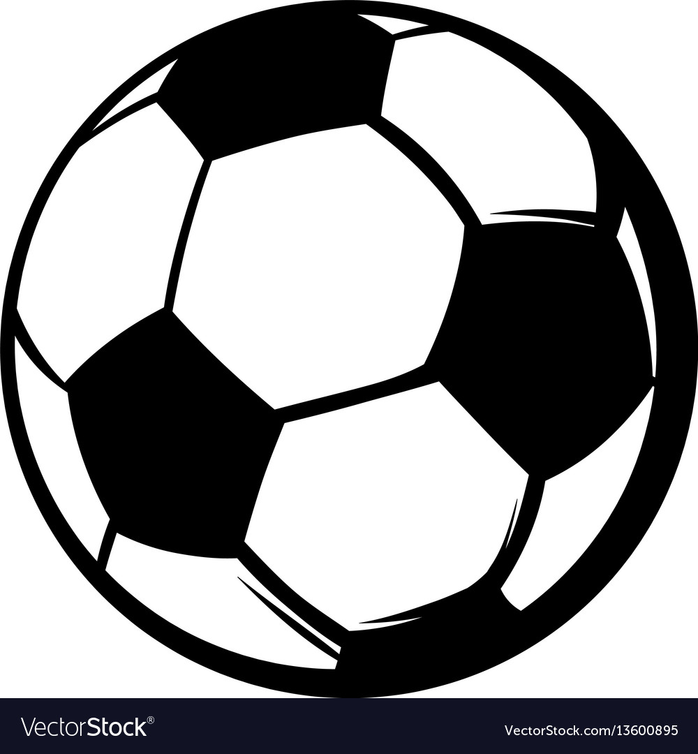Soccer ball icon icon cartoon vector image