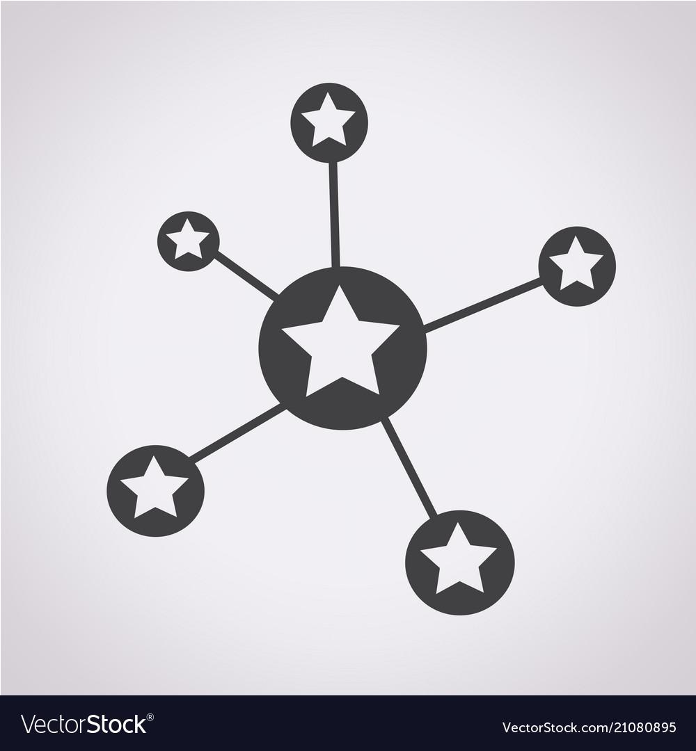 Social star network icon
