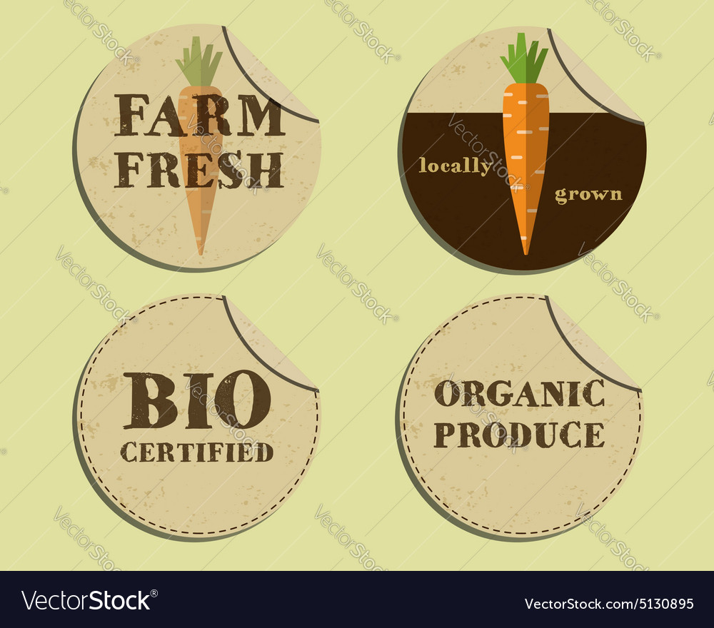 Stylish Farm Fresh label and sticker template with