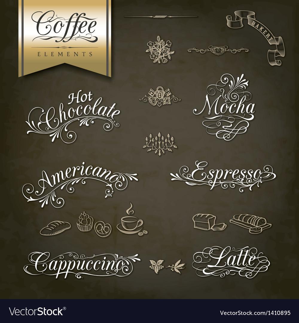 Vintage style Coffee menu designs vector image