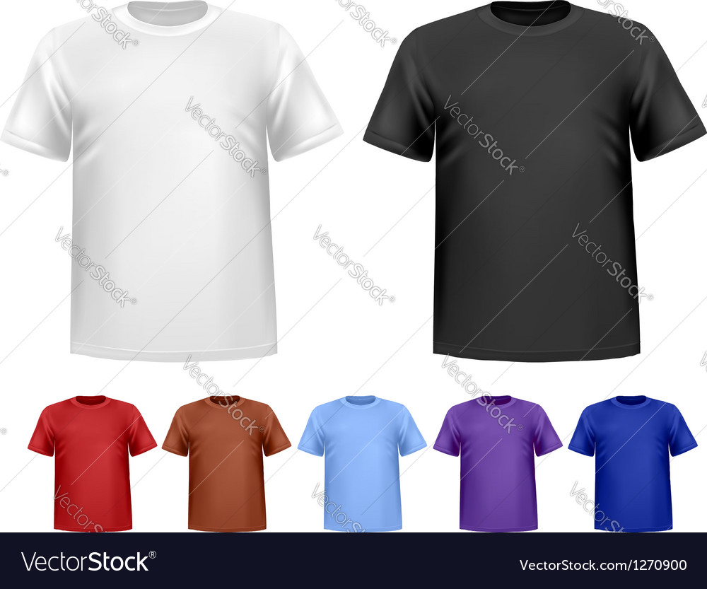 Black and white and color men polo t-shirts Design
