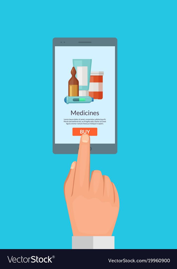 Buy online medicines concept