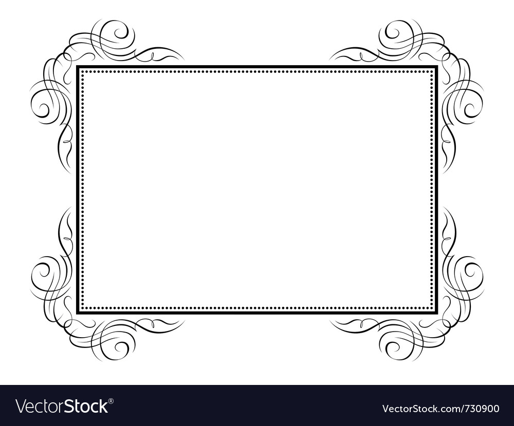 Calligraphy ornamental decorative frame Royalty Free Vector