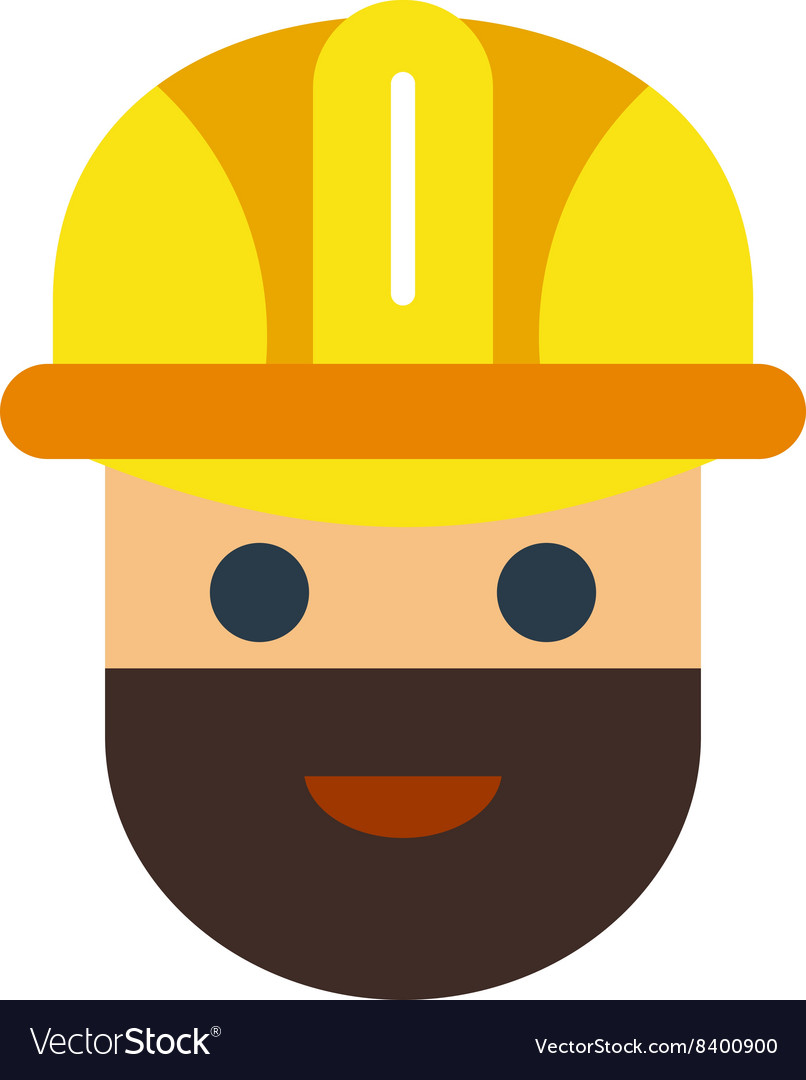 Cartoon worker character face vector image
