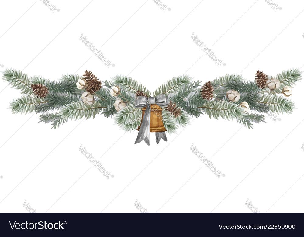 Christmas border design elements floral