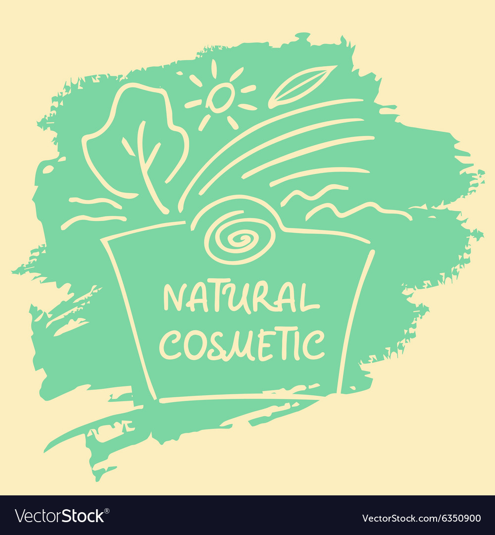 Logo label sticker tag for natural cosmetics