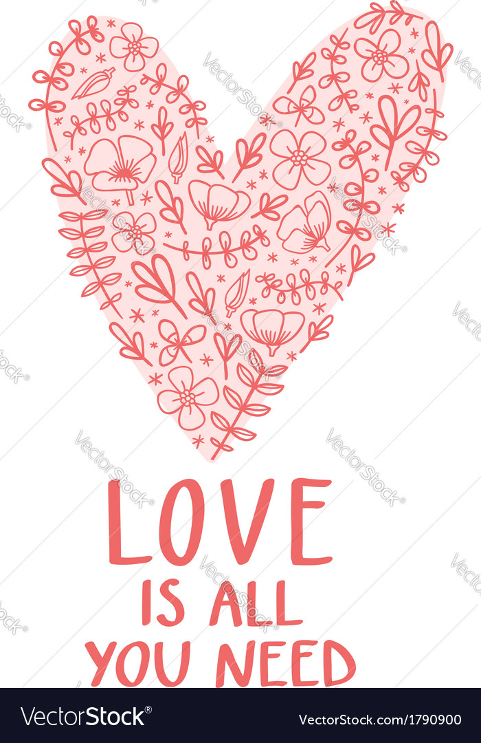 Download Love is all you need Royalty Free Vector Image