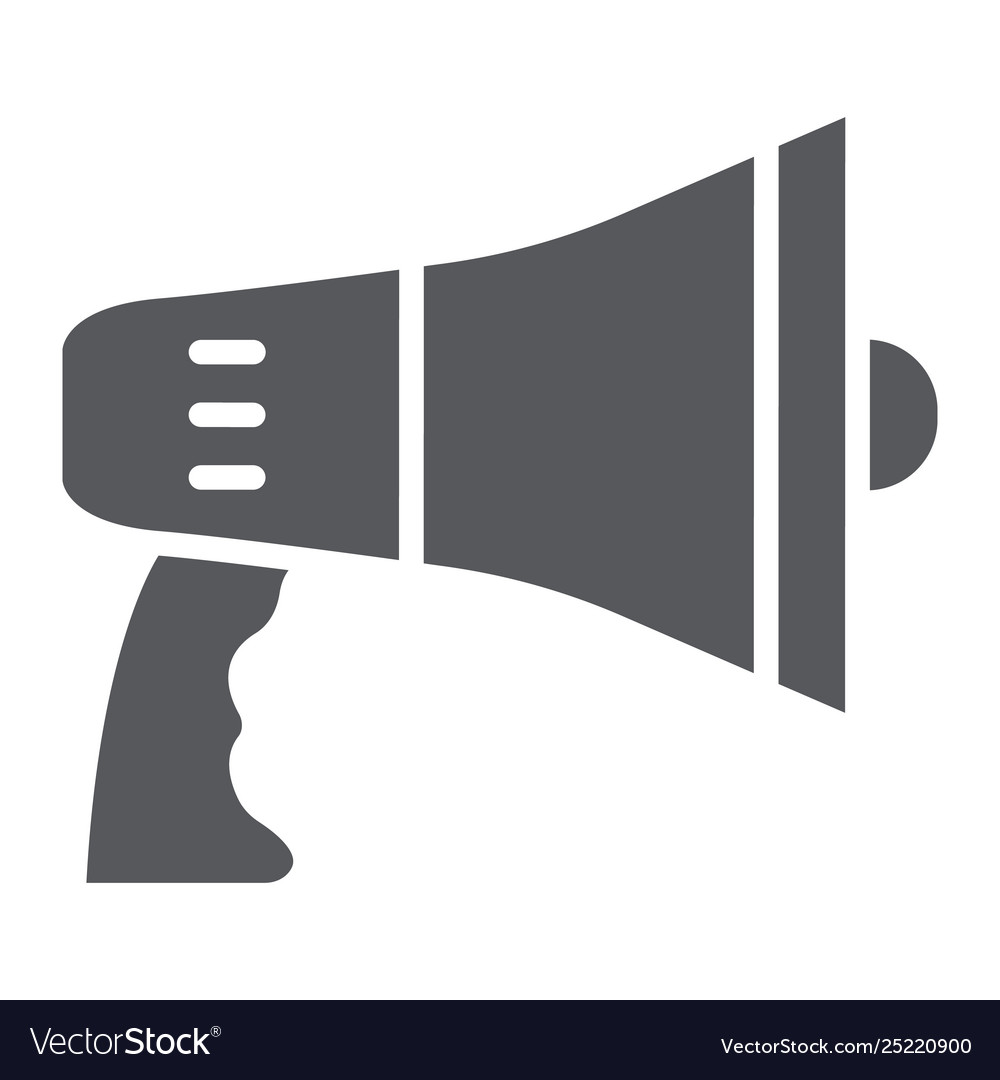 megaphone glyph icon announcement and loudspeaker vector image vectorstock