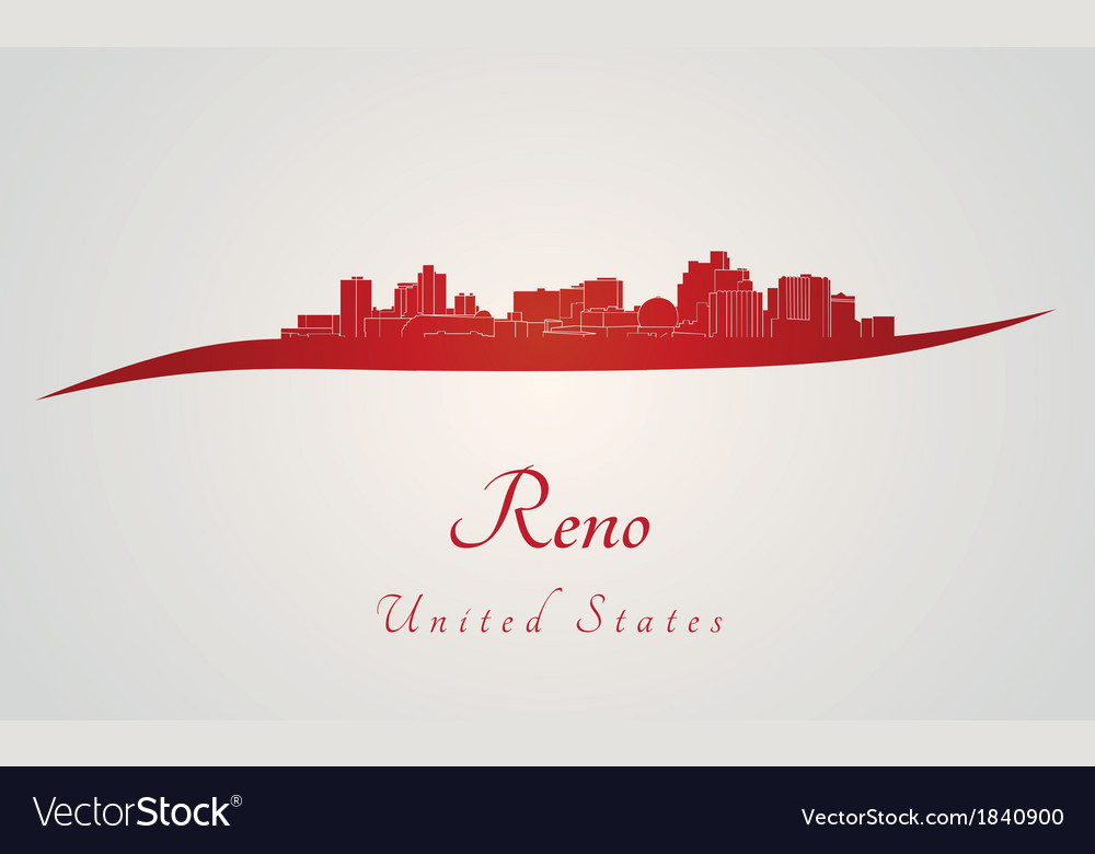 Reno skyline in red