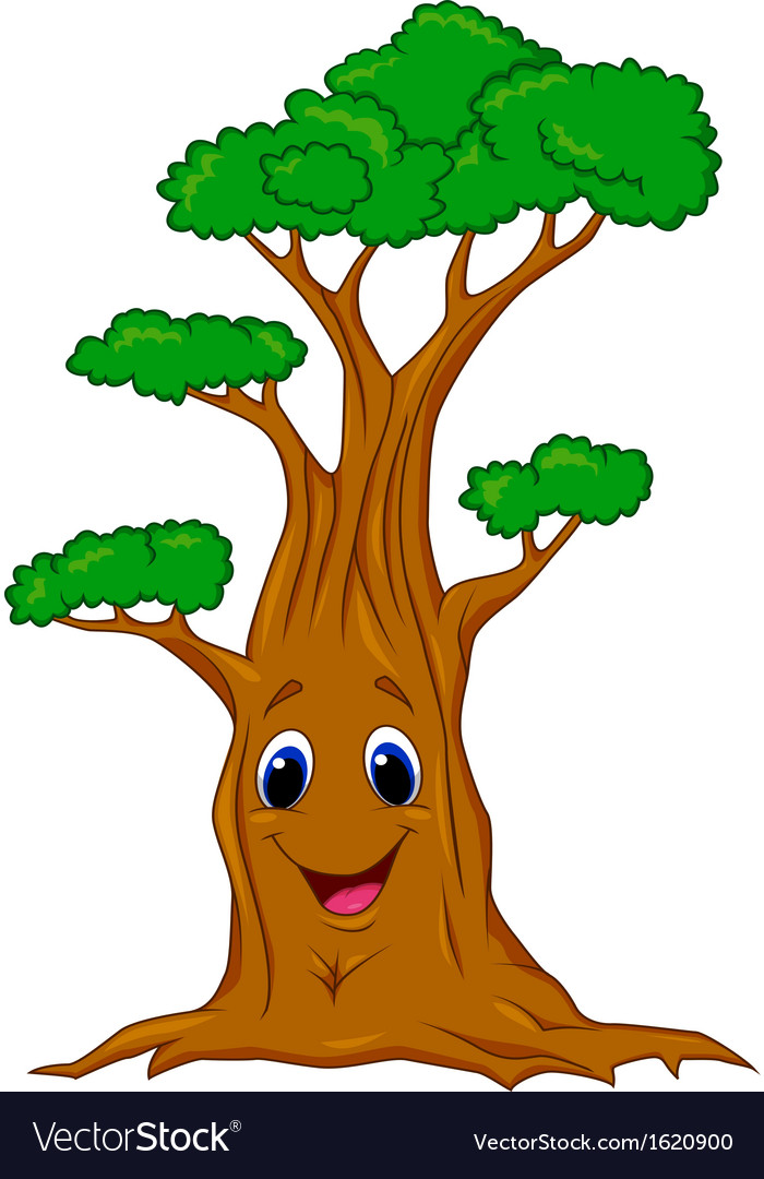 Tree Cartoon Character Royalty Free Vector Image Download a free preview or high quality adobe illustrator ai, eps, pdf and high resolution jpeg versions. vectorstock