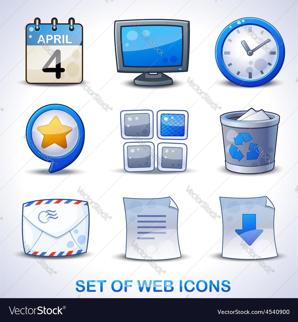 Web icons blue set