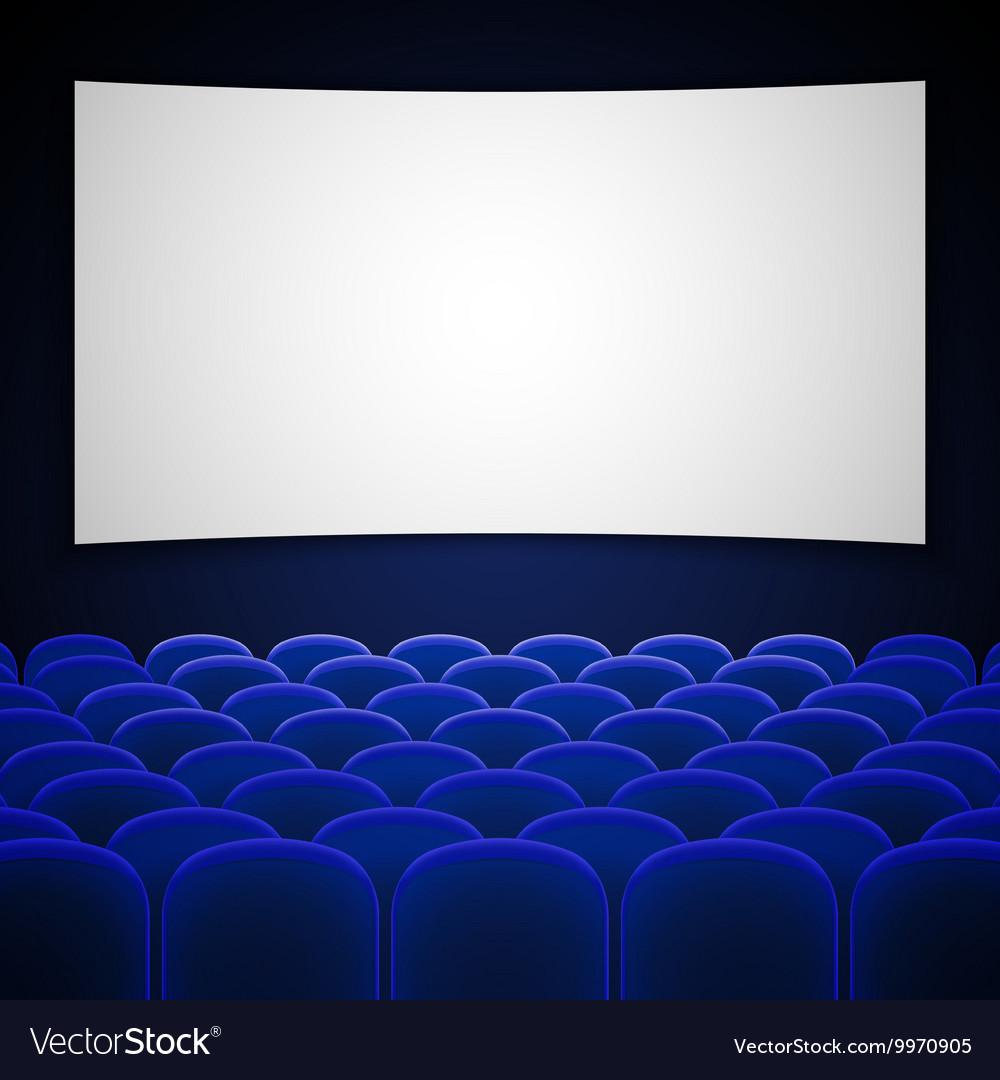 Cinema movie theatre interior vector image
