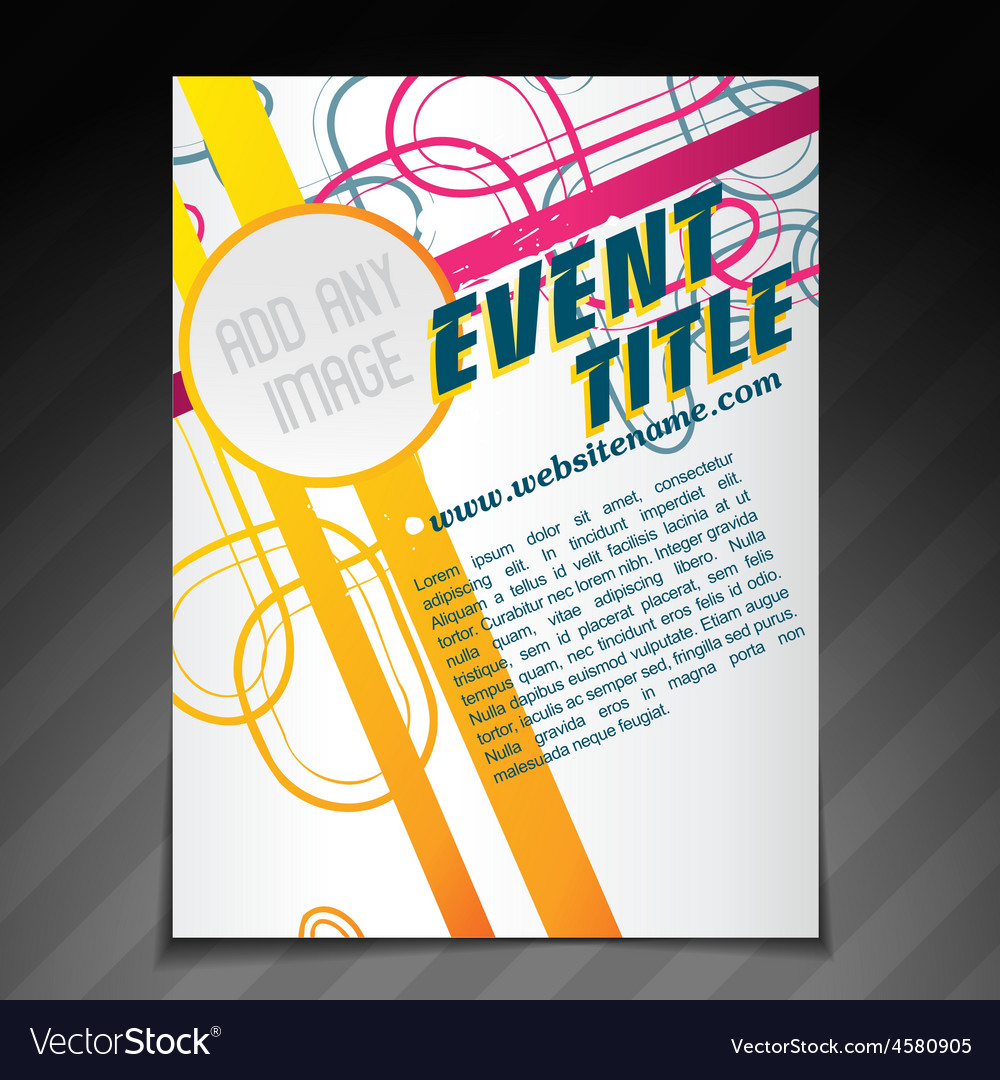 event brochure template royalty free vector image