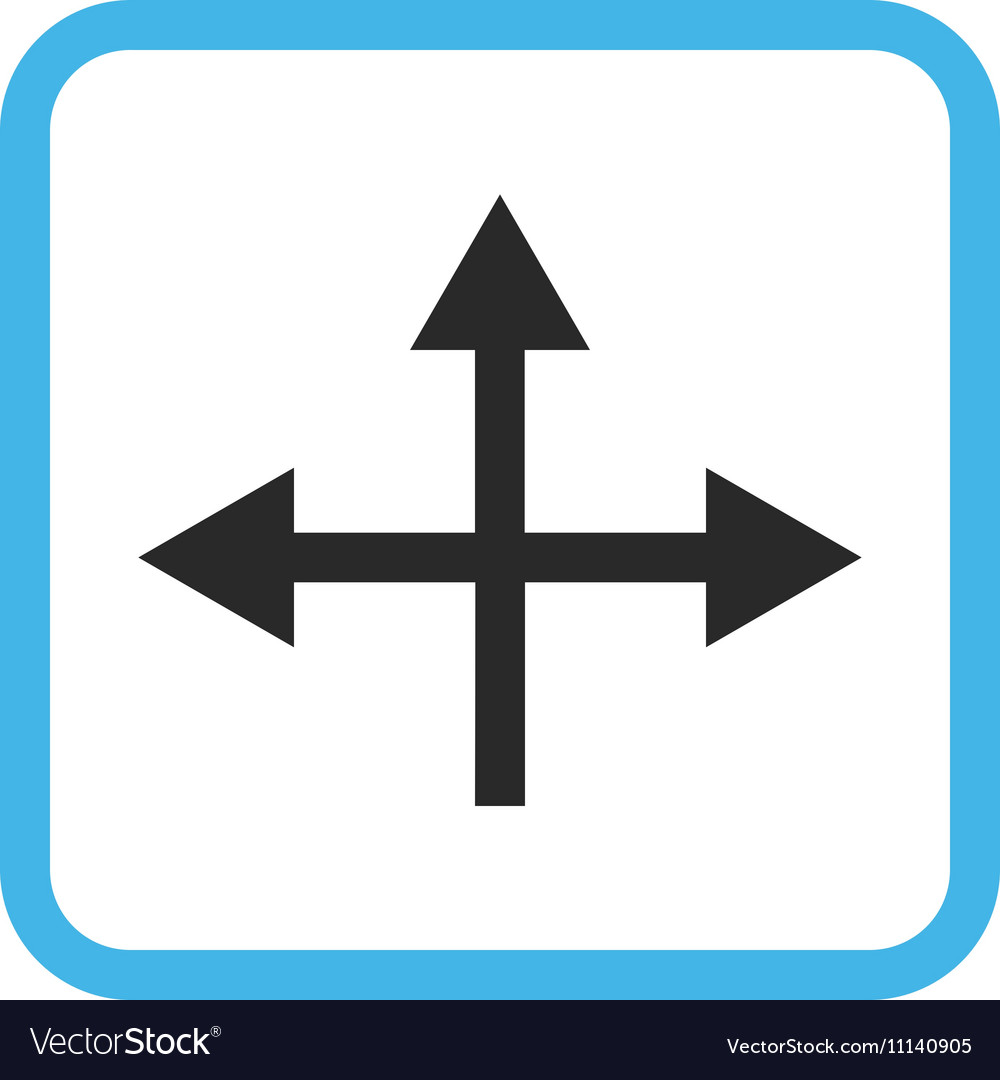 Intersection Directions Icon In a Frame Royalty Free Vector on