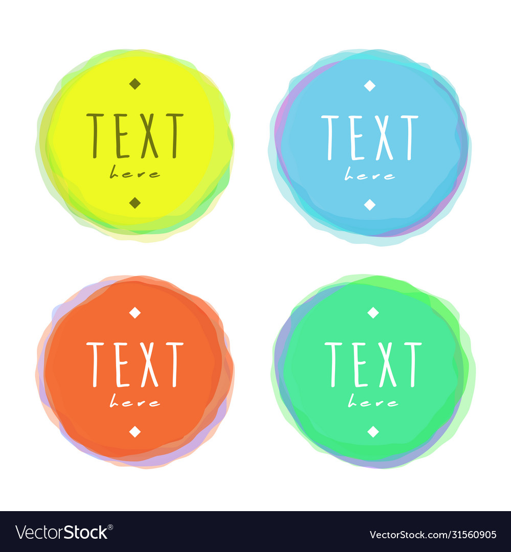 Isolated circles blotches with sample text drawn