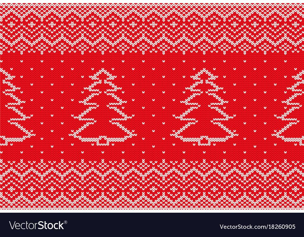 Knit xmas geometric ornament with christmas tree