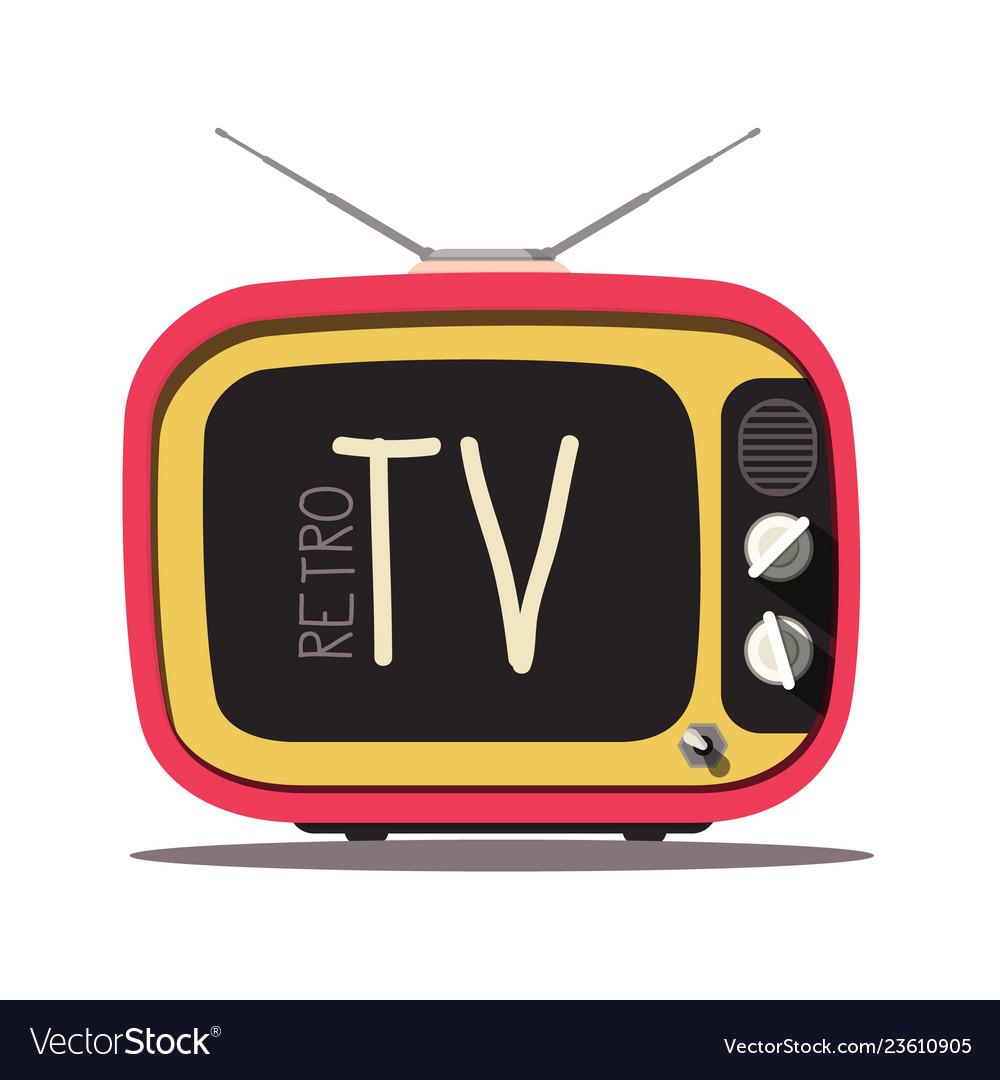 Retro tv vintage television isolated on white