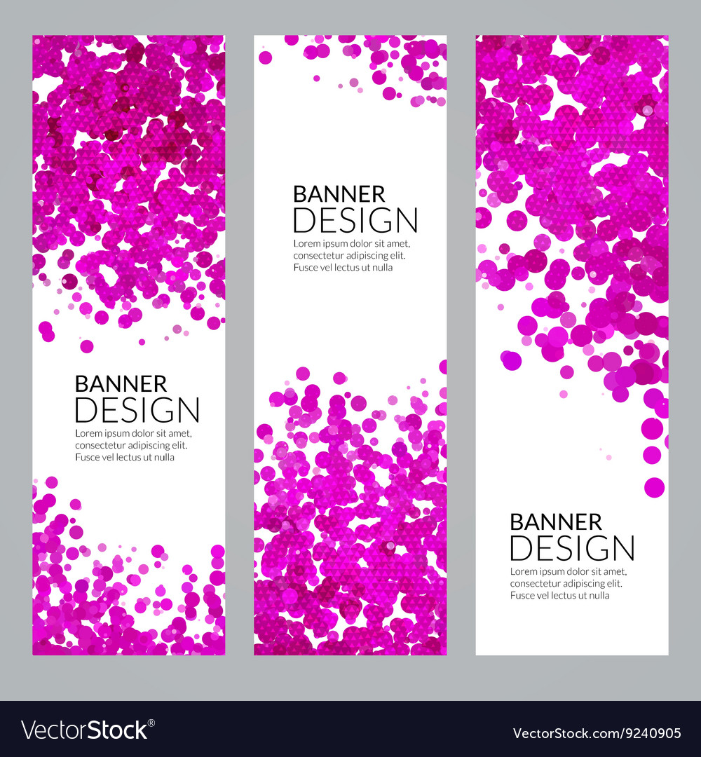 Set of Vertical Poster Banners Templates vector image