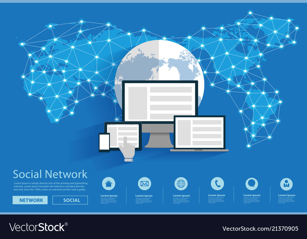 Social network connecting all over the world
