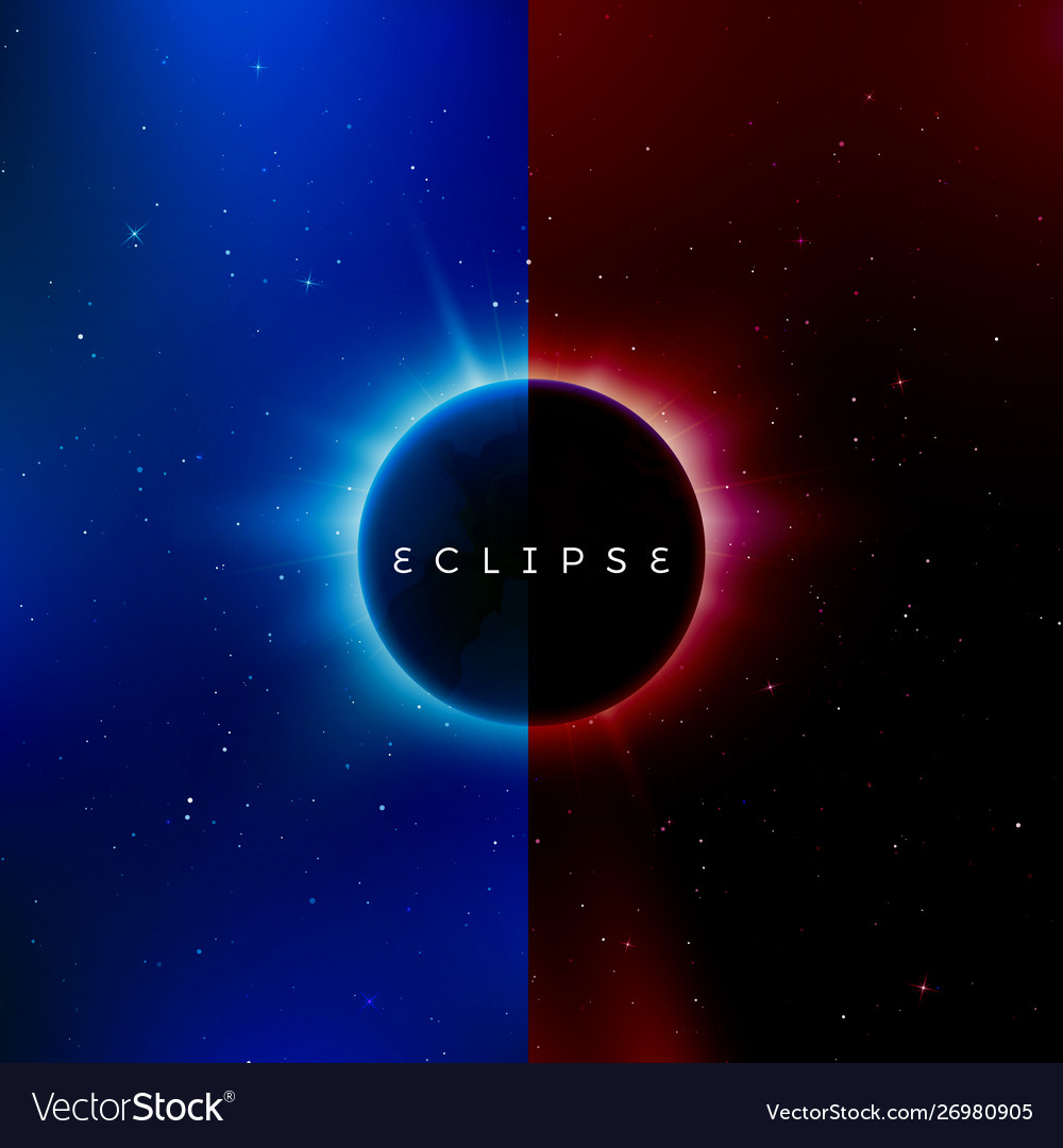 Solar eclipse astronomy effect - sun eclipse