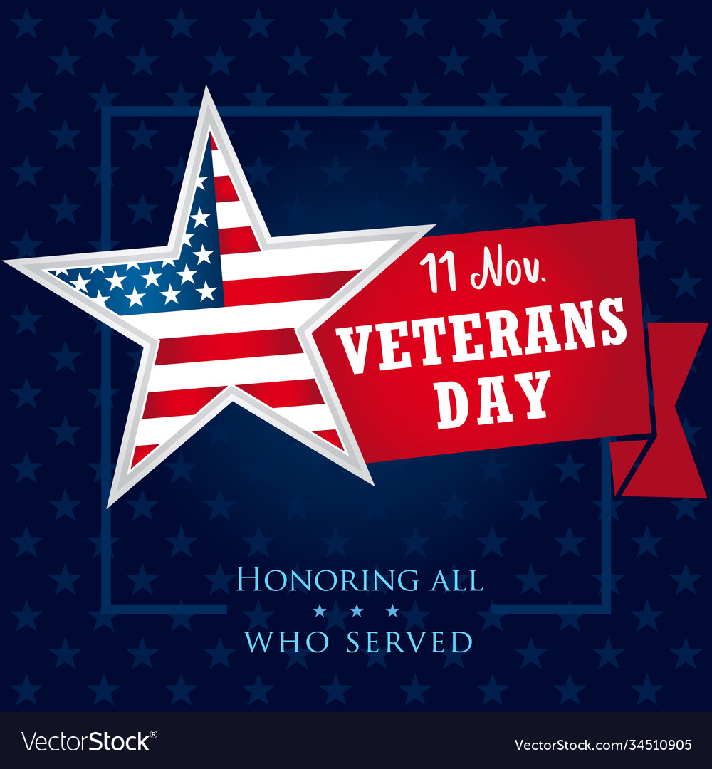Veterans day usa honoring all who served banner