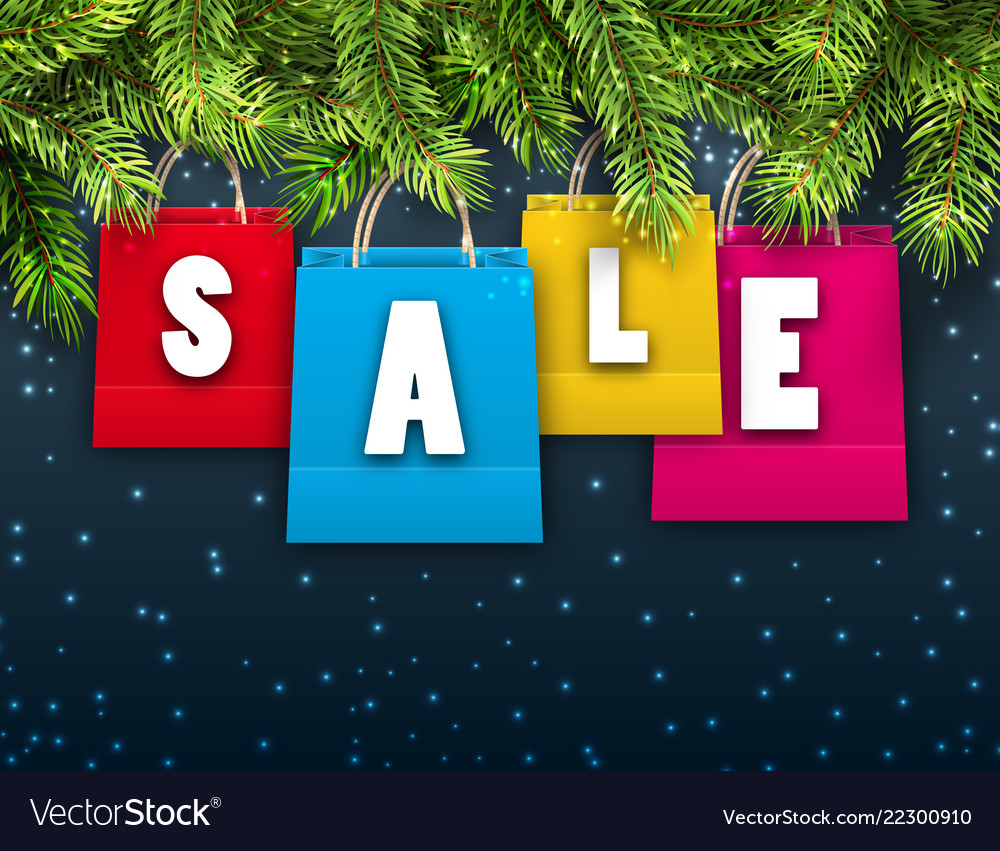 Abstract background with christmas shopping sale