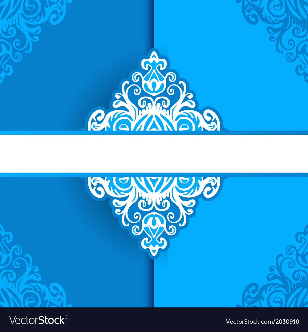 Birthday card frame vector image