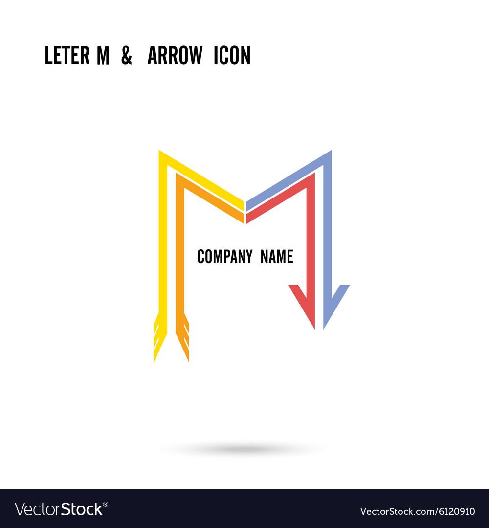 Creative letter M icon logo design vector image