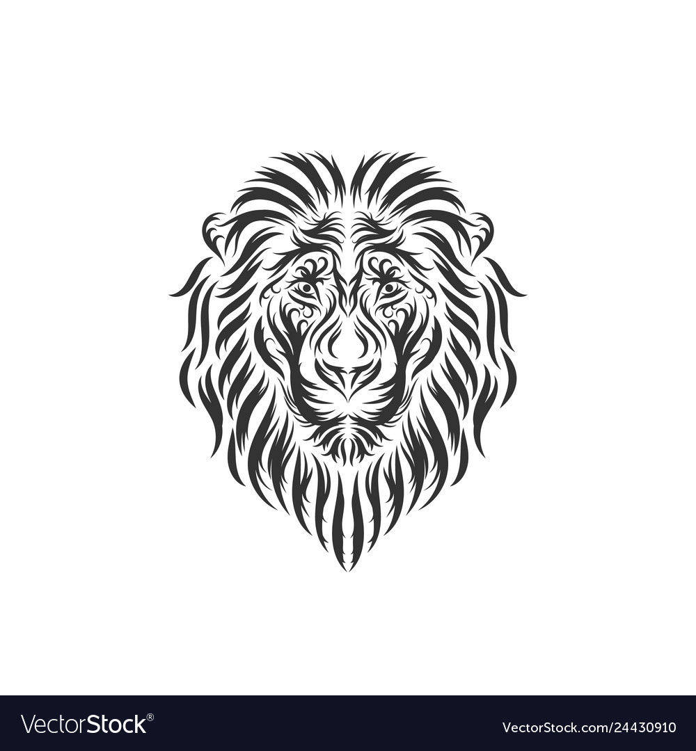 Hand drawn lion head inspirations
