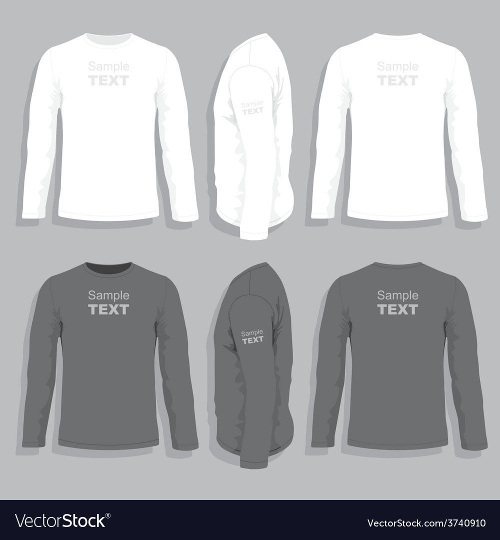 Long Sleeve T Shirt Design Template Bcd Tofu House