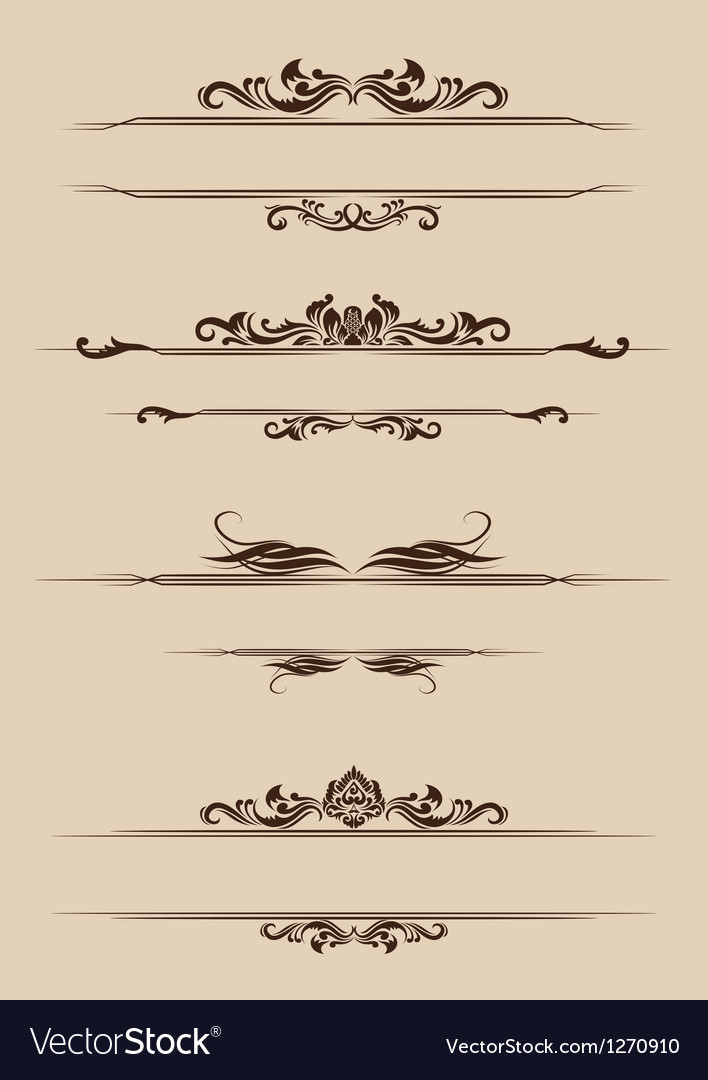 Ornament border set