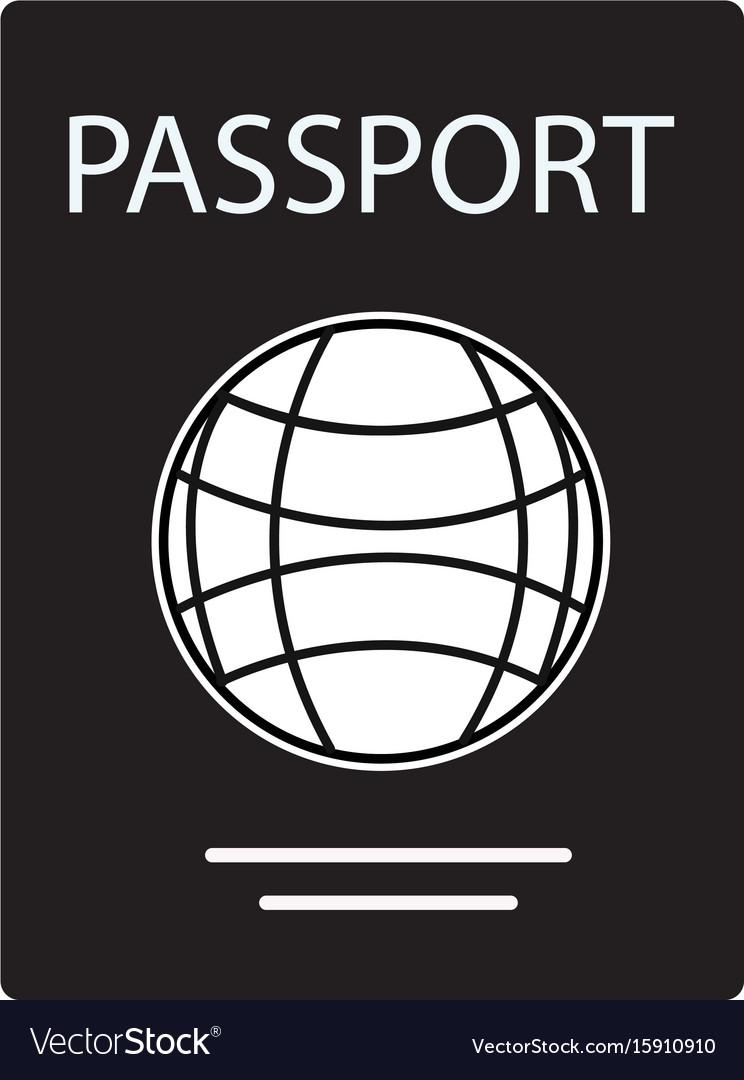 Passport icon on white background passport sign vector image