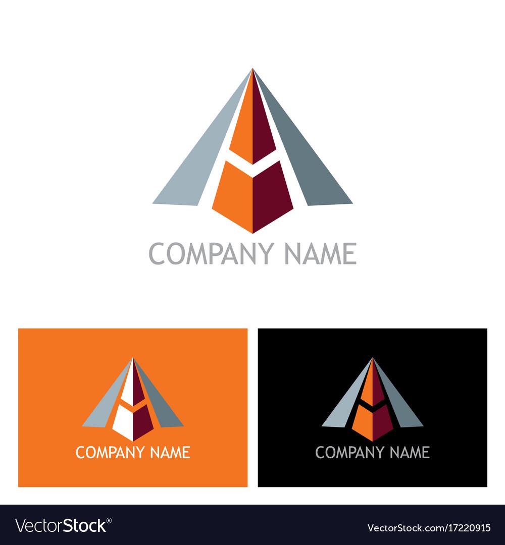 3d arrow letter a logo